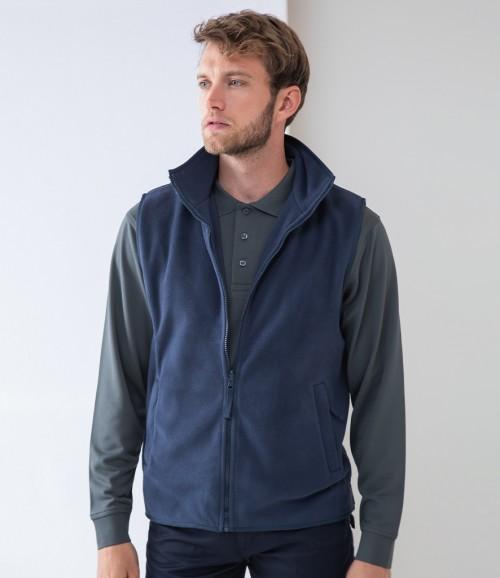 Henbury Sleeveless Micro Fleece Jacket