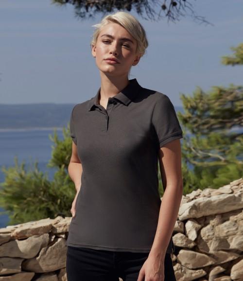 Fruit of the Loom Lady-Fit Premium Cotton Pique Polo Shirt