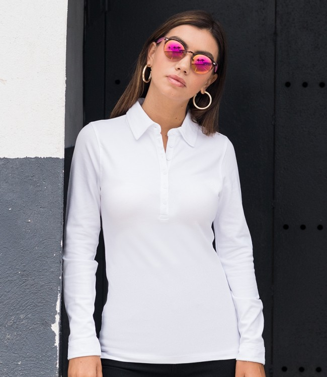 ladies long sleeve polo shirts uk Shop Clothing & Shoes Online