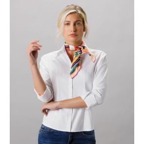 Kustom Kit Ladies Premium 3/4 Sleeve Tailored Oxford Shirt