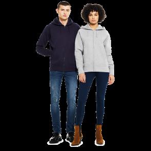 Continental Clothing Unisex Raglan Zip-up Hoody