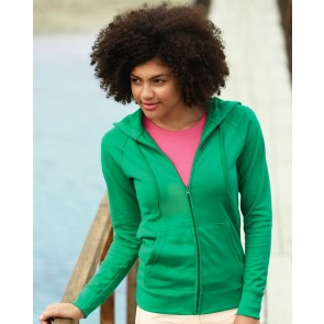 Fruit of the Loom Lady Fit Lightweight Zip Hooded Sweatshirt
